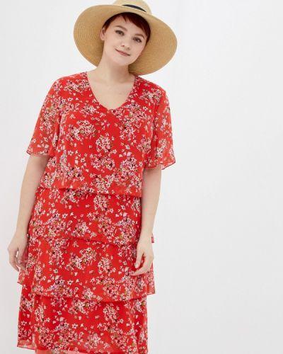 Повседневное красное платье Samoon By Gerry Weber