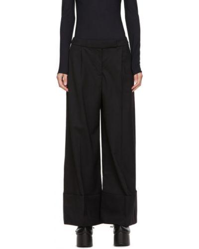 Брючные черные брюки с карманами с манжетами Simone Rocha
