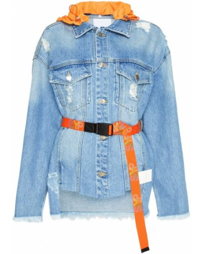 Куртка с капюшоном джинсовая с бахромой Sjyp
