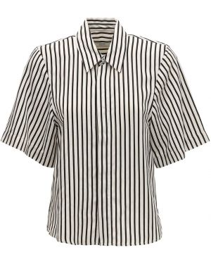 Классическая рубашка с воротником с нашивками с лебяжьим пухом Ami Alexandre Mattiussi