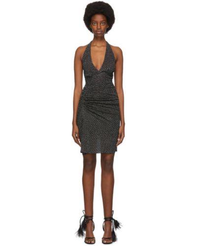 Шелковое черное платье мини без рукавов Missoni