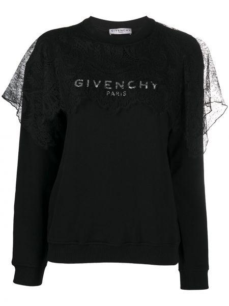 Bawełna z rękawami bawełna bluza okrągły dekolt Givenchy
