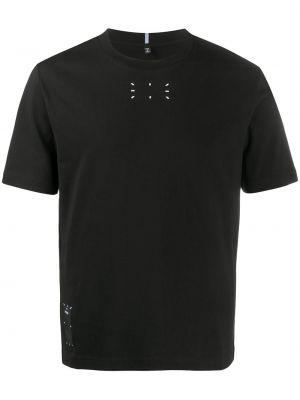 T-shirt z printem - czarna Mcq Alexander Mcqueen