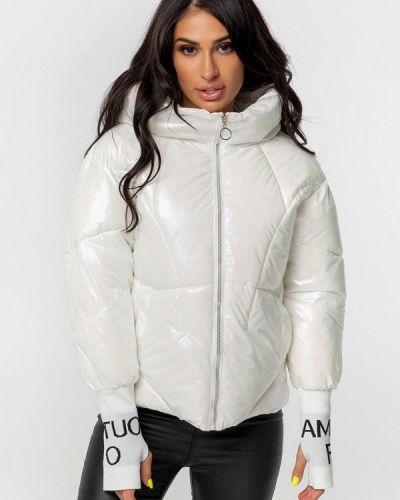 Теплая белая куртка Whitefox