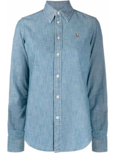 Koszula jeansowa z kołnierzem z haftem z mankietami zapinane na guziki Polo Ralph Lauren