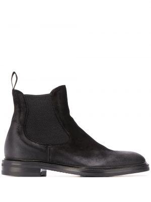 Czarne ankle boots zamszowe Scarosso