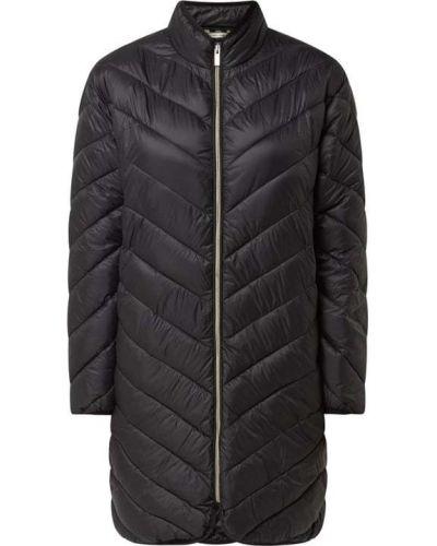 Czarny płaszcz pikowany Fransa