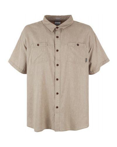 Рубашка льняная с карманами Columbia