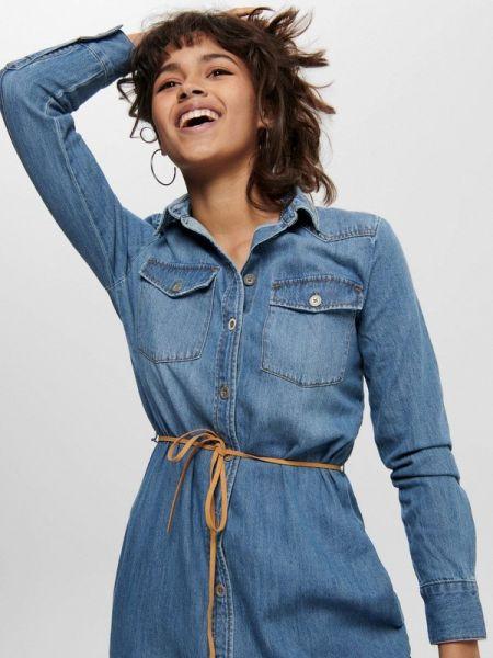 Джинсовое платье синее весеннее Only