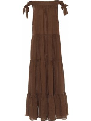 Платье макси через плечо бесшовное Marysia