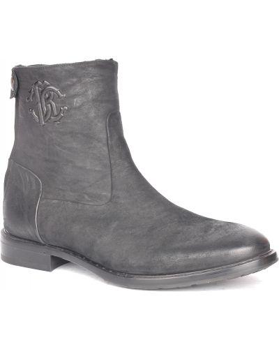 Ботинки осенние кожаные из нубука Roberto Cavalli