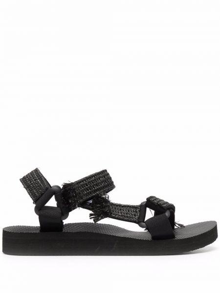 Sandały peep toe - czarne Arizona Love