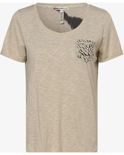 Beżowa T-shirt z nadrukiem z printem Street One