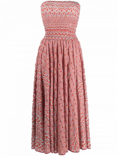 Красное платье с вырезом Missoni Mare
