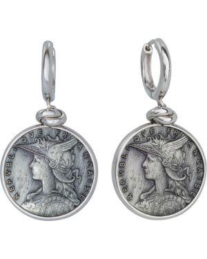 Серебряные серьги удлиненные итальянский Style Avenue
