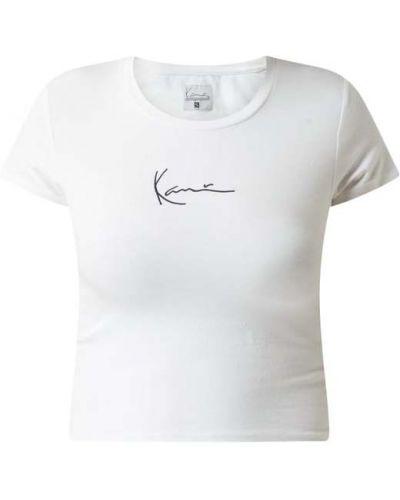 Biały t-shirt bawełniany Karl Kani