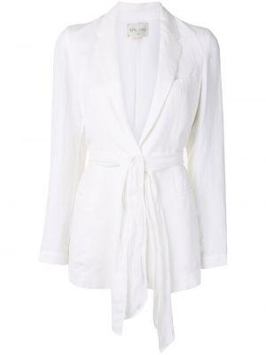 Белый пиджак с карманами свободного кроя Forte Forte