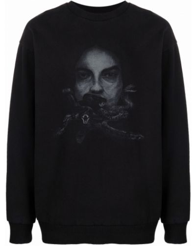 Czarna bluza z nadrukiem z printem Han Kjobenhavn