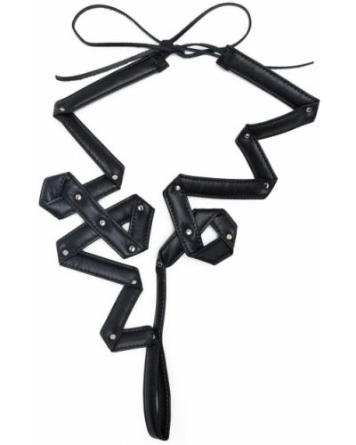 Czarny naszyjnik srebrny Yohji Yamamoto