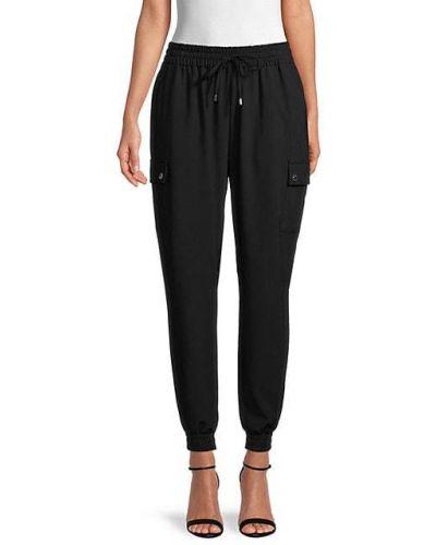 С кулиской черные джоггеры с карманами Calvin Klein