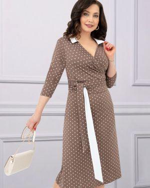 Платье с поясом с запахом винтажная Charutti
