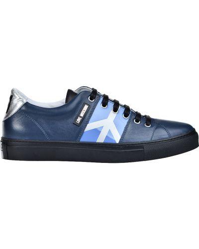 Синие кеды Love Moschino