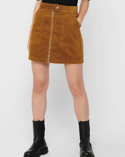 Коричневая прямая юбка карандаш Jacqueline De Yong