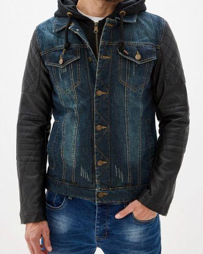 Джинсовая куртка осенняя синяя Young & Rich