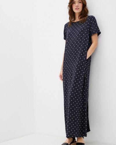 Свободное синее расклешенное платье Finn Flare