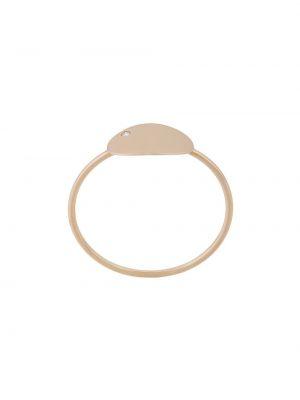 Z rombem pierścień metal z diamentem złoto Ginette