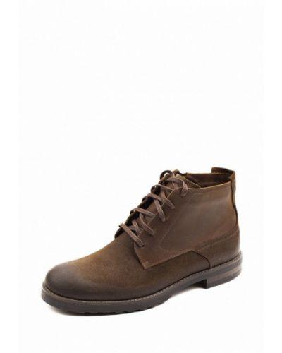 Кожаные ботинки замшевые высокие My Kos