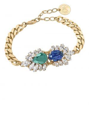 Niebieska złota bransoletka ze złota pozłacana Anton Heunis