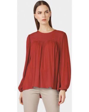 Блузка с длинным рукавом бордовый весенний Pompa