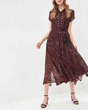 Платье бордовый прямое Religion