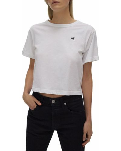 T-shirt bawełniana - biała Helmut Lang