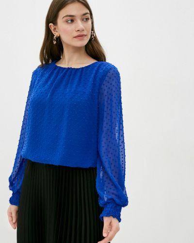 С рукавами синяя блузка Wallis
