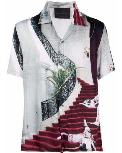 Klasyczna koszula krótki rękaw z wiskozy Limitato