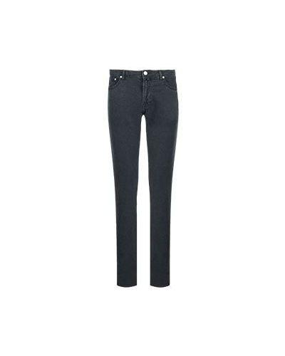 Хлопковые черные прямые джинсы Jacob Cohen