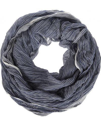 Синий шарф весенний Emporio Armani