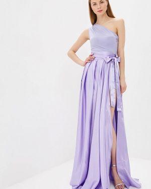 Вечернее платье фиолетовый Mirasezar