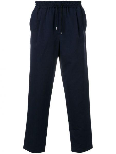 Lniane lniane spodnie - niebieskie Mcq Alexander Mcqueen
