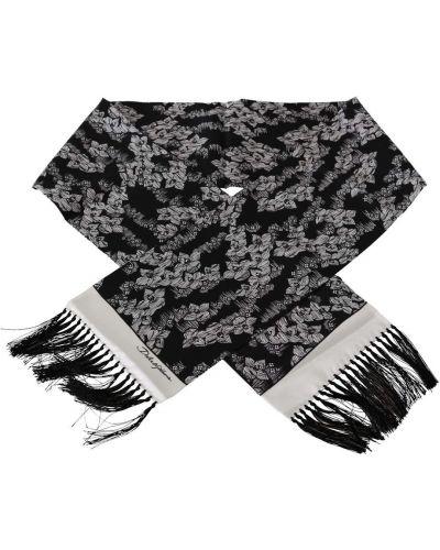 Czarny szalik z printem Dolce And Gabbana