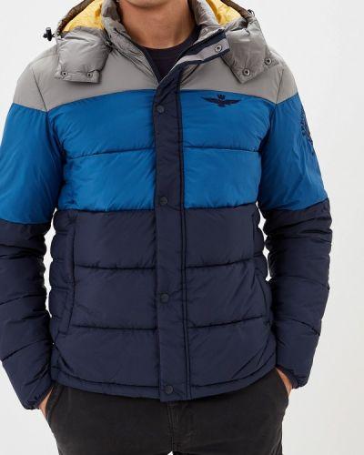 Утепленная куртка осенняя синяя Aeronautica Militare