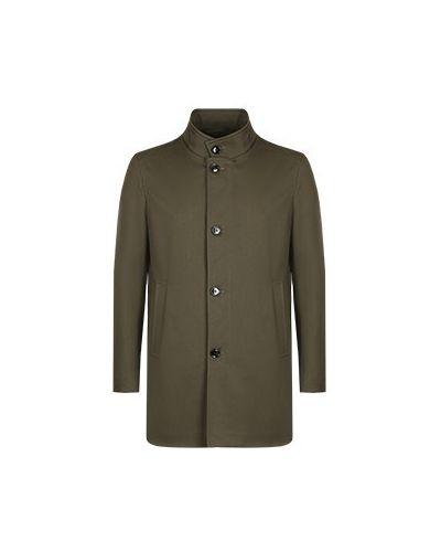 Хлопковое зеленое пальто Strellson