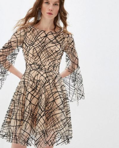 Бежевое вечернее платье Gepur