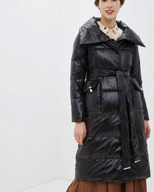 Зимняя куртка черная осенняя Lusio