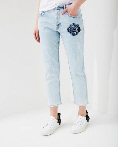 Голубые джинсы-скинни Iceberg