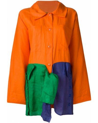 Желтое длинное пальто с капюшоном на пуговицах Jc De Castelbajac Pre-owned