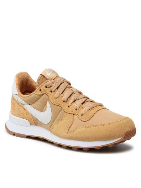 Półbuty skórzane - białe Nike