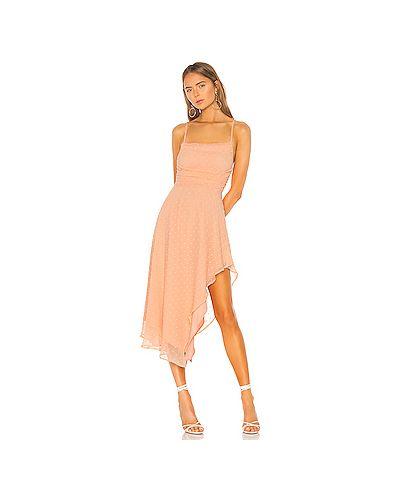 Платье миди на бретелях персиковое Nbd